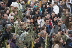 棕枝全日在加利西亚(西班牙) 库存照片