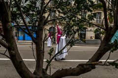 棕枝全日在比戈-加利西亚,西班牙 库存照片