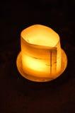 棕榈叶蜡烛台 免版税库存图片