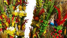 棕榈在卡齐米义卖市场  库存图片