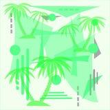 棕榈抽象例证 库存照片
