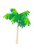 棕榈树动画片一对象 免版税图库摄影