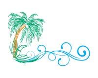 棕榈树挥动夏天传染媒介例证 皇族释放例证