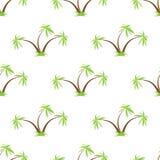 棕榈树无缝的模式 免版税库存照片