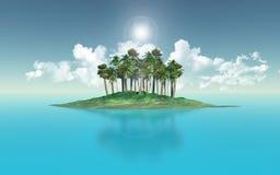 棕榈树海岛 免版税库存图片