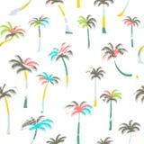 棕榈树的样式 无缝的棕榈树 免版税库存图片