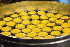 棕榈汁蛋糕Kanom塔恩省泰国点心 库存照片