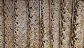 棕榈茅草屋顶背景 免版税库存图片