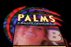 棕榈赌博娱乐场手段拉斯维加斯 免版税库存照片