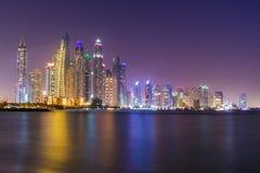 从棕榈Jumeriah的迪拜小游艇船坞 图库摄影