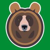 棕熊头 库存例证