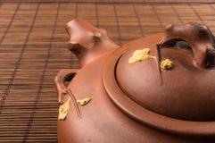 棕色中国茶壶 图库摄影