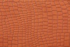棕色人造革纹理 免版税图库摄影