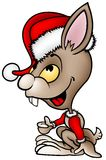 棕色兔子圣诞老人 免版税库存照片