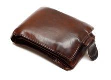 棕色凸起的皮革钱包 库存图片
