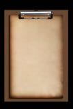 棕色剪贴板老纸张 免版税库存照片