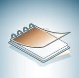 棕色办公室ringbook 库存图片