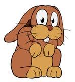 棕色动画片兔子 向量例证