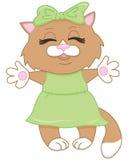 棕色动画片逗人喜爱的小猫 库存图片