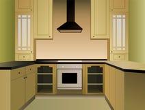 棕色厨房向量 免版税库存照片
