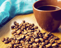 棕色咖啡杯 免版税库存图片