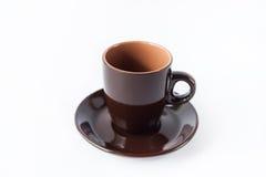 棕色咖啡杯 图库摄影