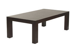棕色咖啡桌木头 库存图片
