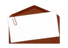 棕色图标邮件 免版税库存图片