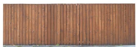 从棕色垂直的委员会的坚实木篱芭 库存照片