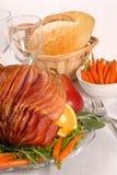 棕色复活节给上釉的火腿蜂蜜糖 库存图片