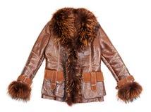 棕色外套毛皮羊皮 免版税库存图片