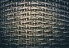 棕色家具材料的工艺品织法纹理柳条表面传统泰国样式样式自然背景  免版税库存图片
