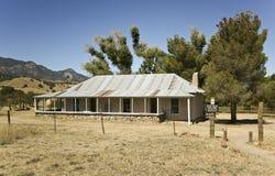 棕色峡谷房子大农场视图 库存照片