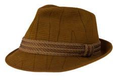棕色帽子 免版税库存图片