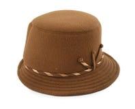 棕色帽子s妇女 库存图片