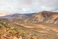 棕色干燥山谷  图库摄影