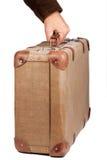 棕色手提箱葡萄酒 免版税库存照片