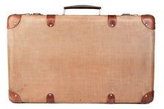 棕色手提箱葡萄酒 库存照片