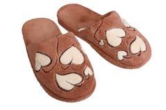 棕色拖鞋 库存图片