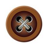 棕色按钮 免版税库存照片