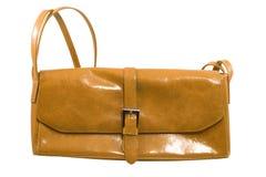 棕色时兴的手袋 图库摄影