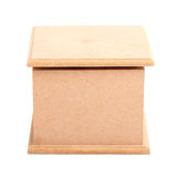 棕色木箱正面图  免版税库存照片