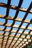 棕色木荫径上面在晴朗的夏日侧视图的 库存照片