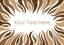 棕色条纹框架或横幅  免版税图库摄影