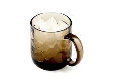 棕色杯子空的玻璃白色 免版税库存照片