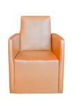 棕色椅子查出的皮革 库存图片