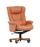 棕色椅子豪华办公室 免版税库存图片