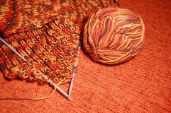 棕色橙色围巾 免版税库存照片