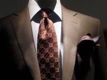 棕色水平的夹克关系 免版税库存照片
