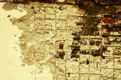 棕色水泥grunge墙壁 免版税库存图片